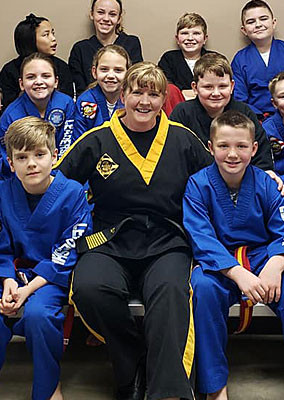 Master Amanda Olson with Students