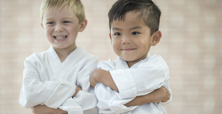 two young martial arts students